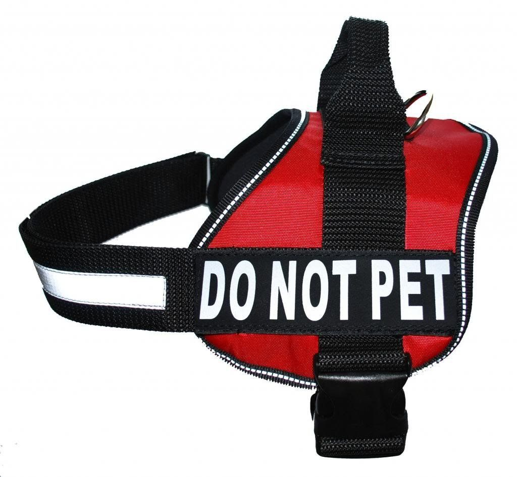 Service Do Not Pet Dog Vest Harness With Removable Velcro Patches