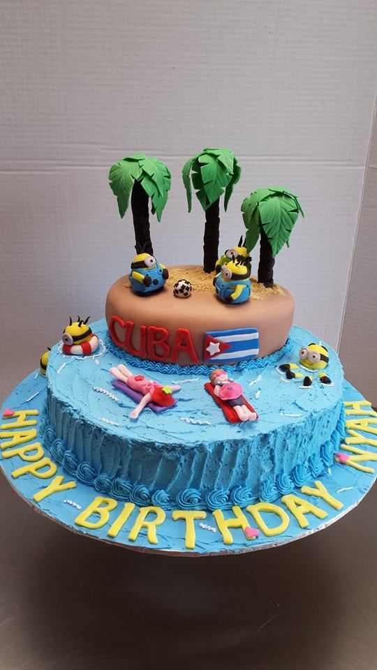cuban wedding cake toppers minions birthday cake for a traveling to cuba 13138