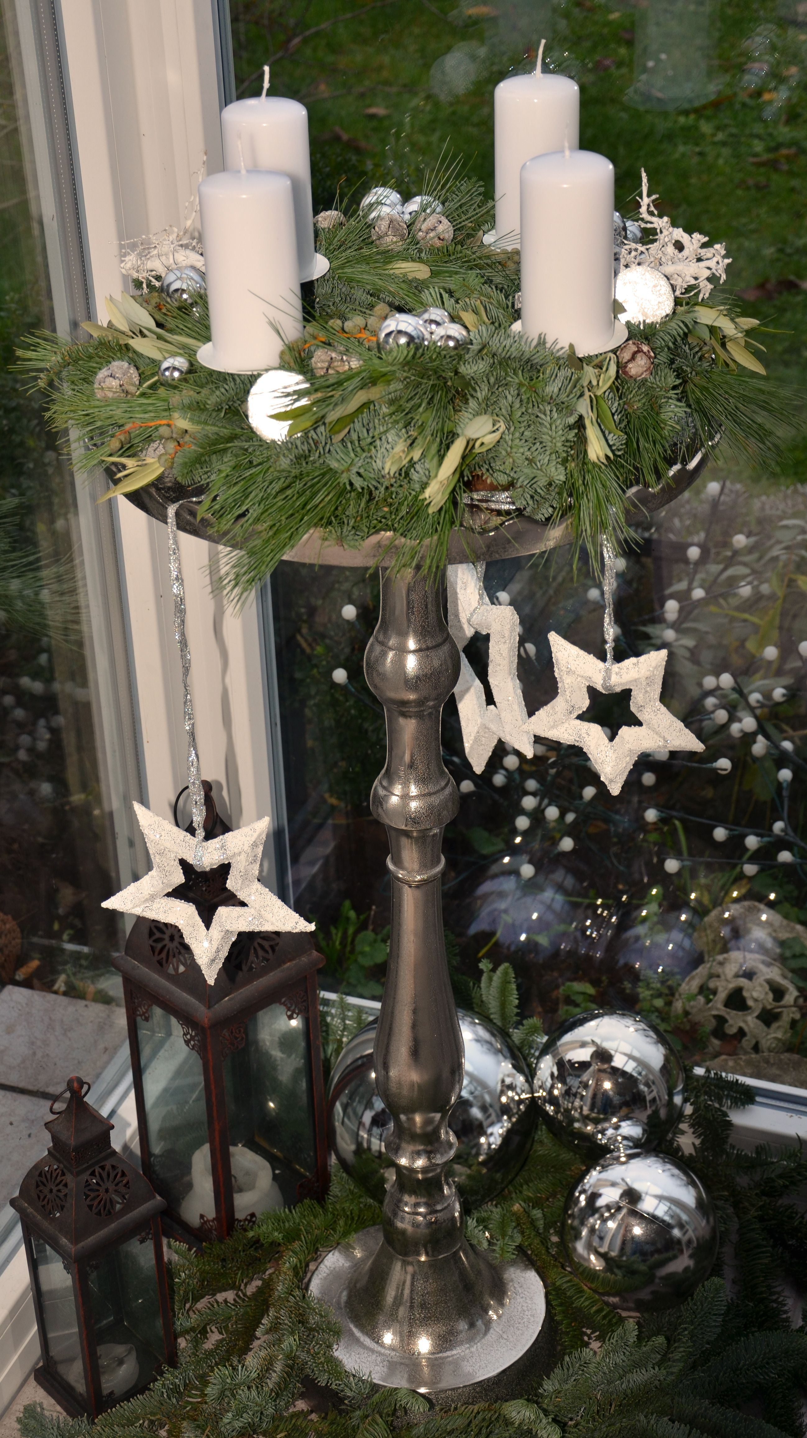 Adventskranz auf Ständer | Weihnachten dekoration