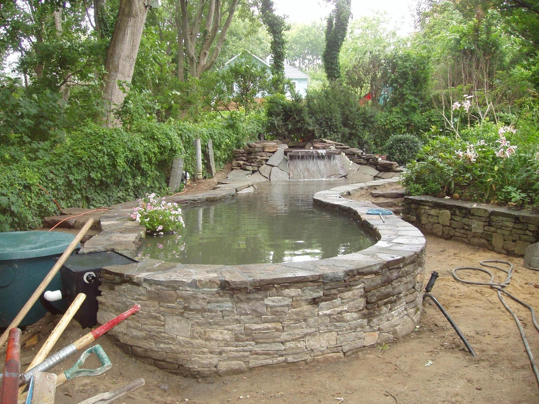 25 Best Simple Design Beautiful Above Ground Pond 5 Ponds Backyard Above Ground Pond Pond Design