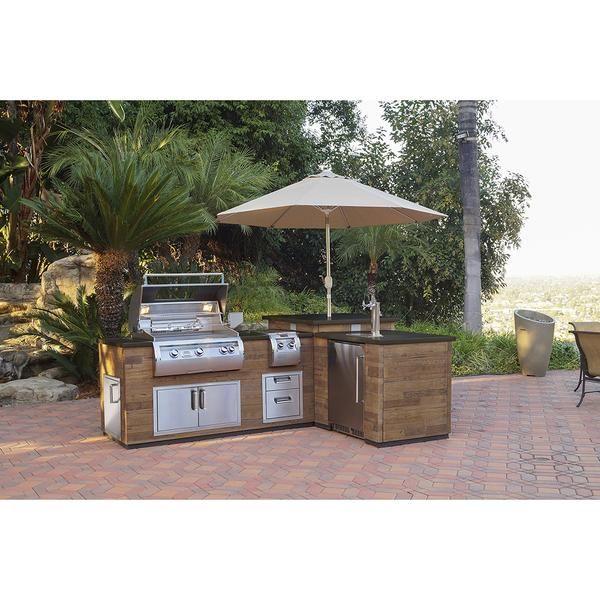 fire magic l outdoor kitchen island silver pine island only bbq grill island outdoor on outdoor kitchen island id=39479
