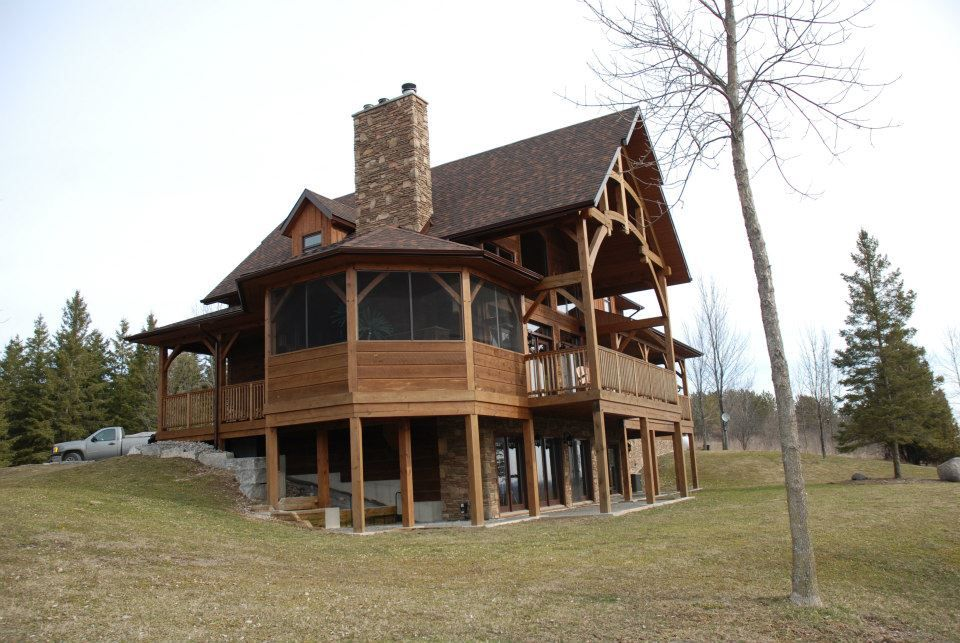 Discovery Dream Homes ,Timberframe and Log Homes pinned with ...