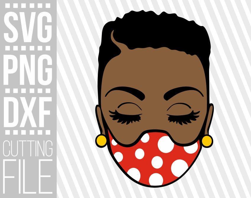 Black Girl In Short Hair Svg Melanin Afro Woman Svg Mask Etsy In 2021 Black Girl Cartoon Black Love Art Black Art Pictures