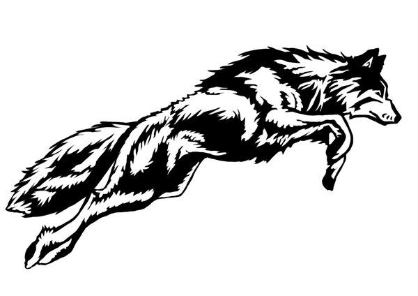 Lineart Wolf Tattoo : Leaping wolf tattoo by gelliebeen on deviantart tatts pinterest