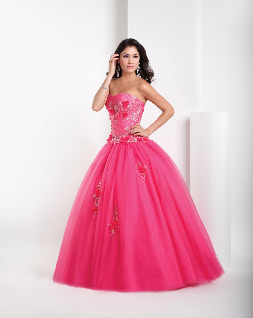 Home :: Long Prom Dresses :: Pink Ball Gown Sweetheart and ...