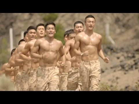Shirtless And Marching To His Own >> Descendants Of The Sun Ep 3 Shower Shirtless Marching Scene