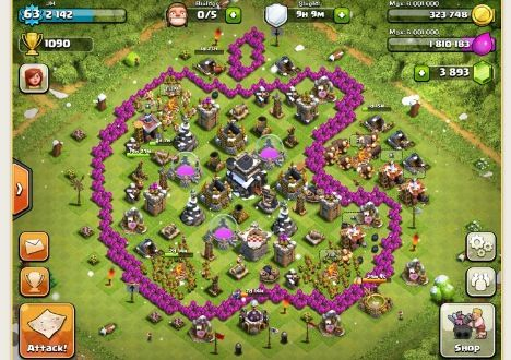 clash of clans base copy