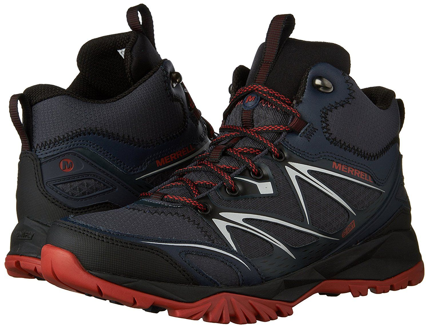 Merrell Men S Capra Bolt Mid Waterproof Boot Want Additional Info Click On The Image This Is An Affiliate Boots Hiking Boots Waterproof Boots