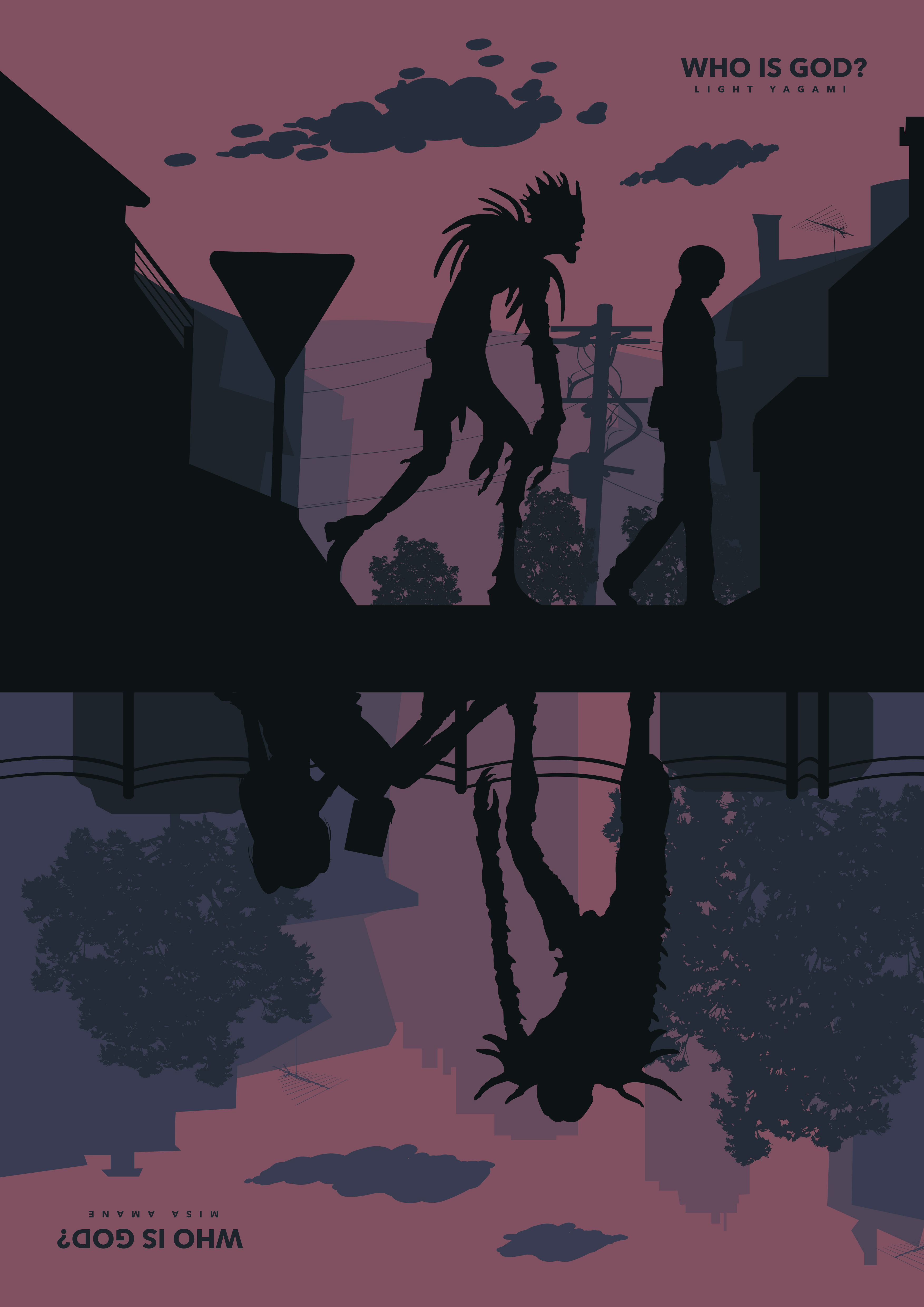 Photo of Death Note A3 A4 Digital Poster minimalist Shinigami Print Series Tv Netflix anime manga Movie