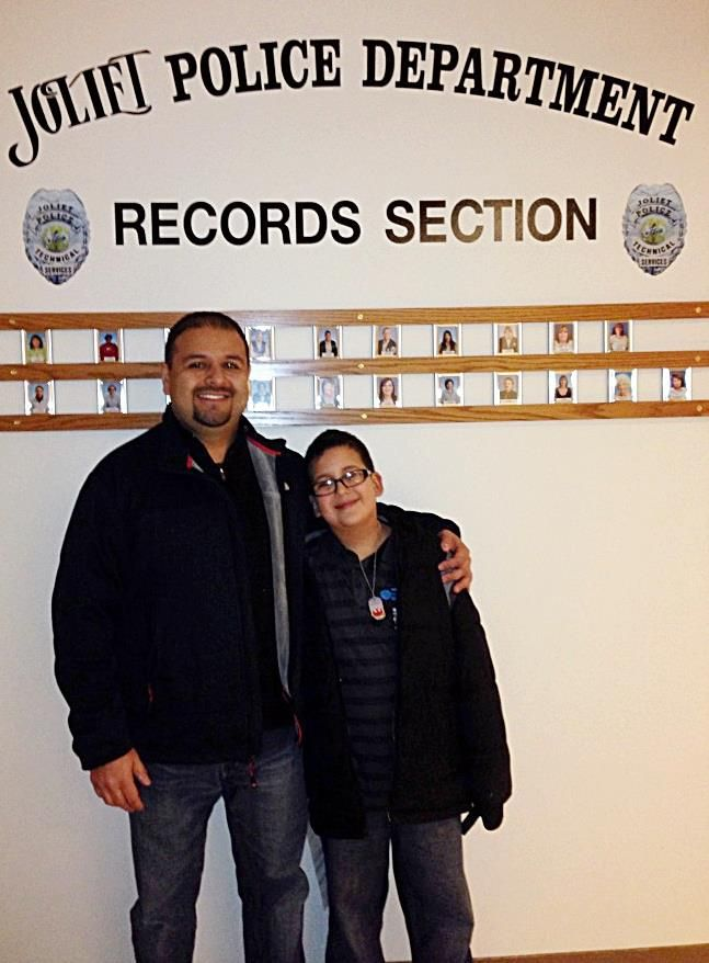 Big Brother Louie Sanchez Of Joliet And His 8 Year Old Little Brother Aj Of Joliet Toured The Ins Outs Of The Joliet Pol Police Department Joliet Police