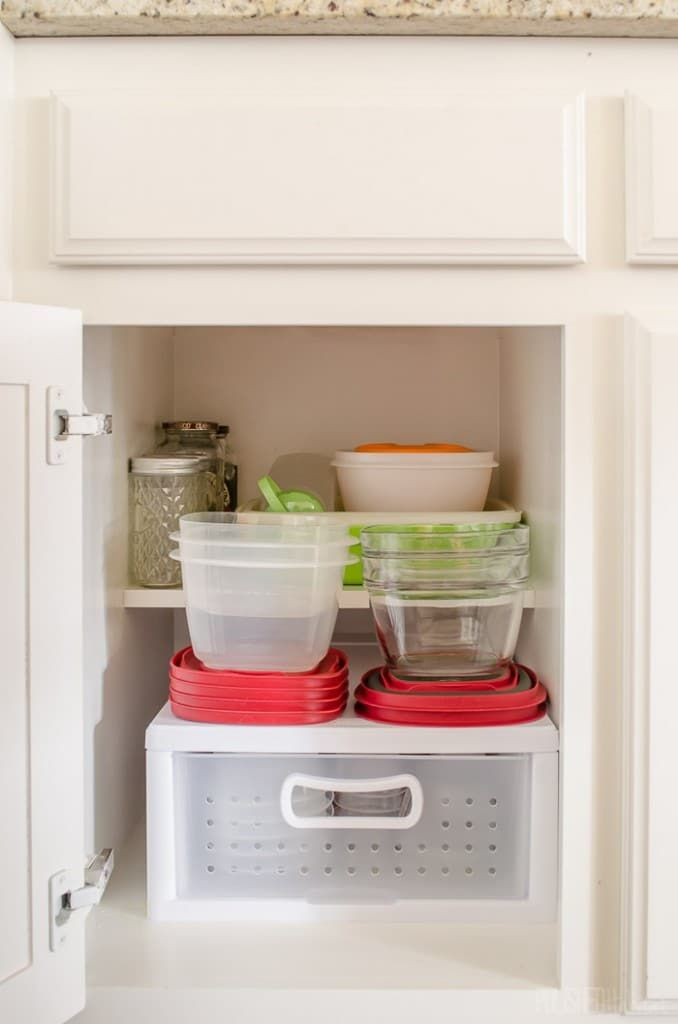 no more messy tupperware love these kitchen organization ideas from polishedhabitat com on kitchen organization tupperware id=43253