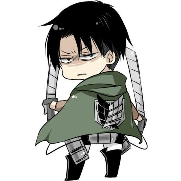 Chibi Levi Attack On Titan Liked On Polyvore Featuring Anime