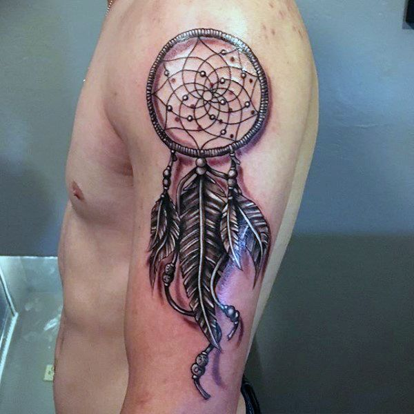 Dream Catcher Tattoo On Arm Captivating 100 Dreamcatcher Tattoos For Men  Divine Design Ideas  Pinterest Design Decoration