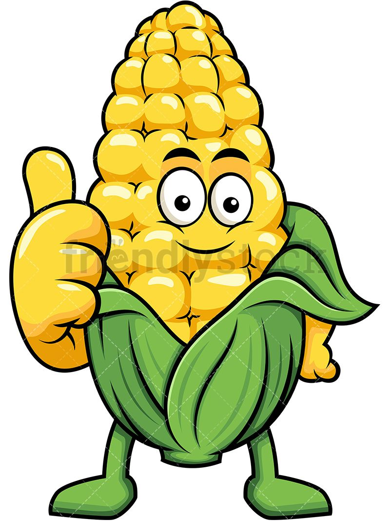 Corn Mascot Making A Thumbs Up Gesture Ve ables