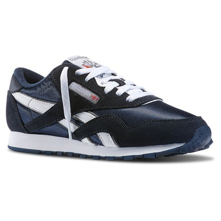 edef13046948e1 Reebok Females Classic Nylon in Team Navy   Platinum Size 5.5 - Retro  Running