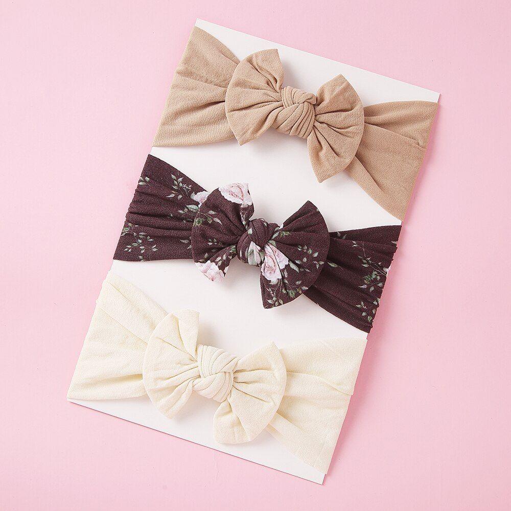 3Pcs set Fashion Baby Girl Toddler Bow Elastic Flower Headband Hair Accessories