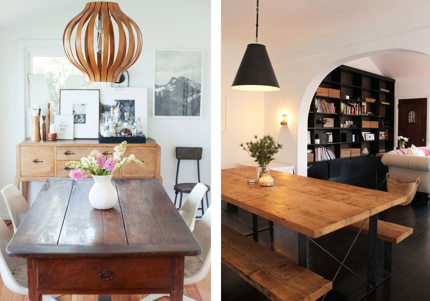 Light Hardwood Floors Look Best With Dark Toned Wooden Tables While Black Wood Flooring Matches