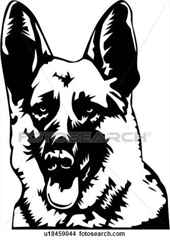 Clipart Of German Shepherd02 U18459044 Search Clip Art Illustration Murals Drawings And Vector Eps Graphic Dog Stencil German Shepherd German Shepherd Dogs