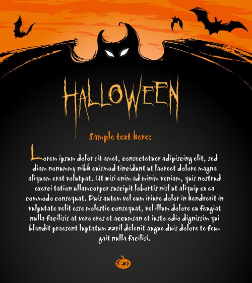 Pin by icons on icons pinterest halloween night and happy halloween free vector halloween invitation card and letterhead with zombie logo nice dark orange cloud bat flying on it and abstract halloween font st stopboris Gallery