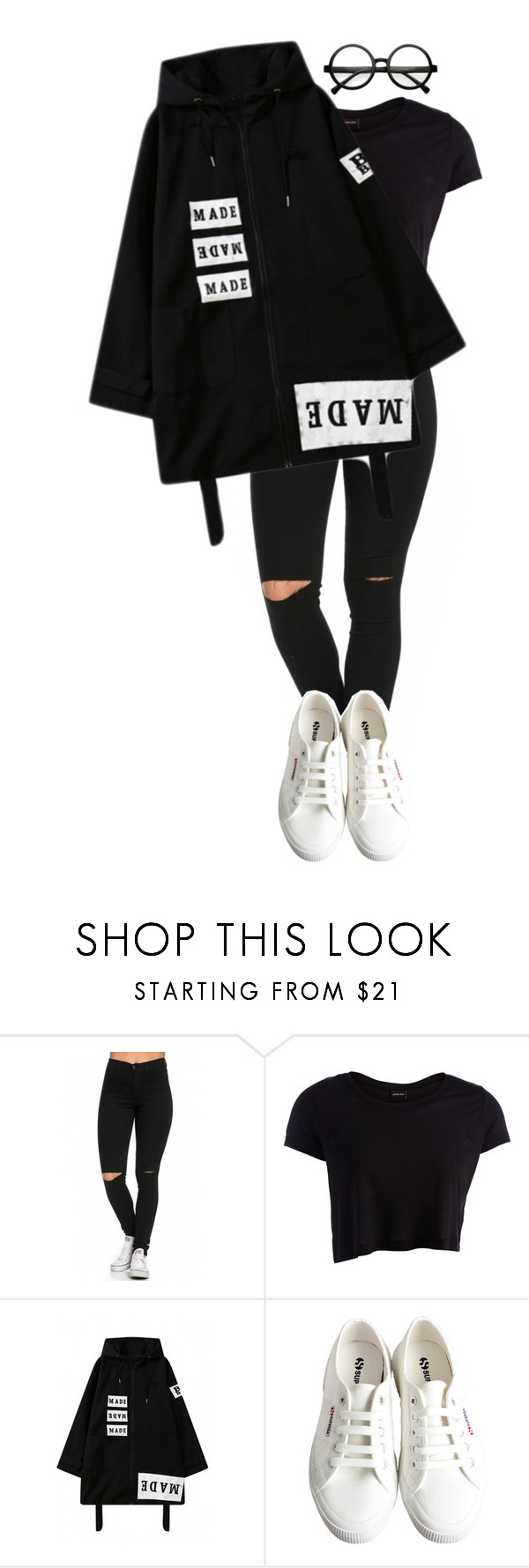 """""""Untitled #180"""" by supersweetsasha ❤ liked on Polyvore featuring Pieces, Superga, Retrò, women's clothing, women, female, woman, misses and juniors"""