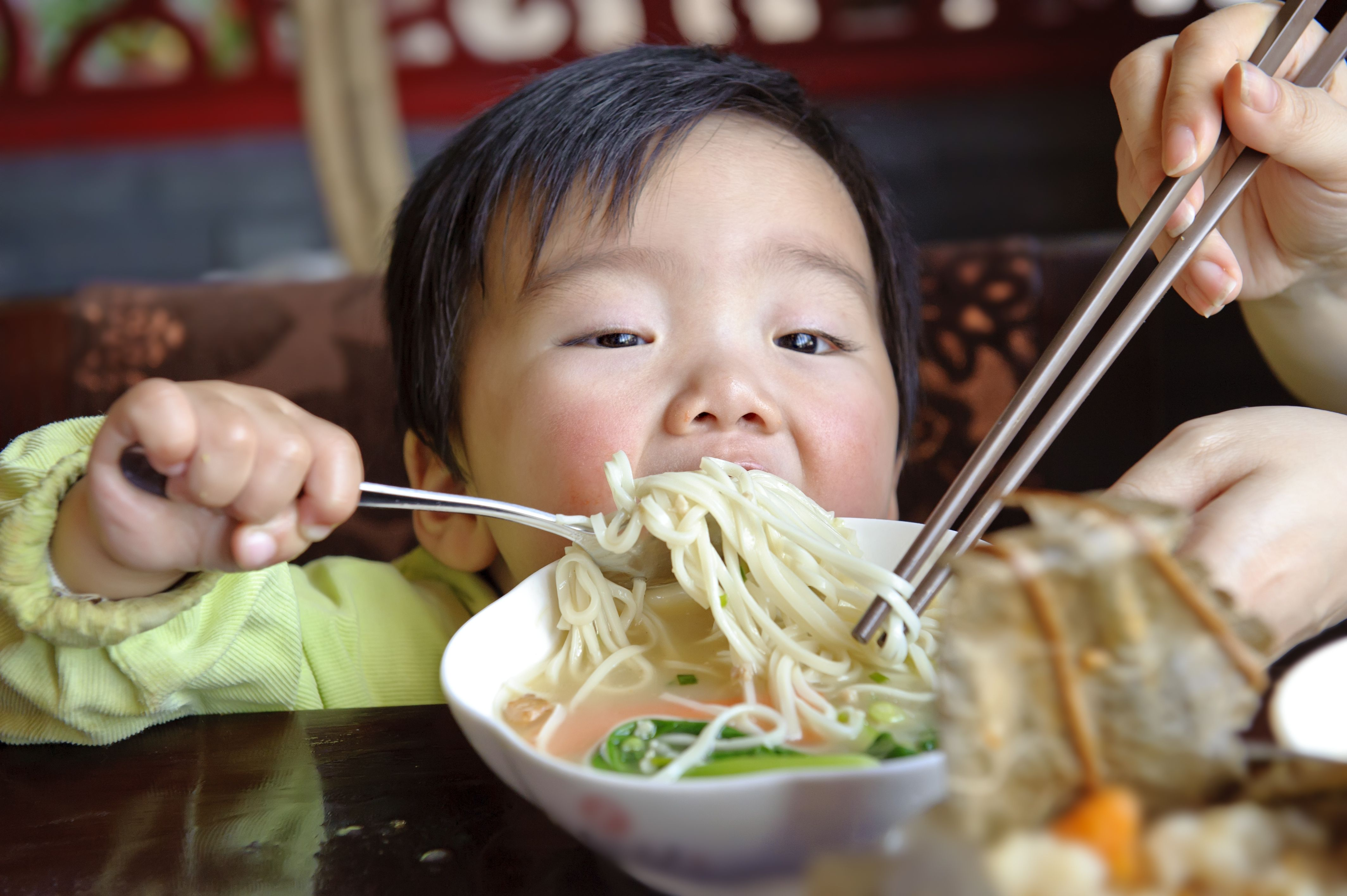 Enjoying PHO, a Vietnamese noodle soup consisting of rice noodles, different herbs & meat. Enjoy!