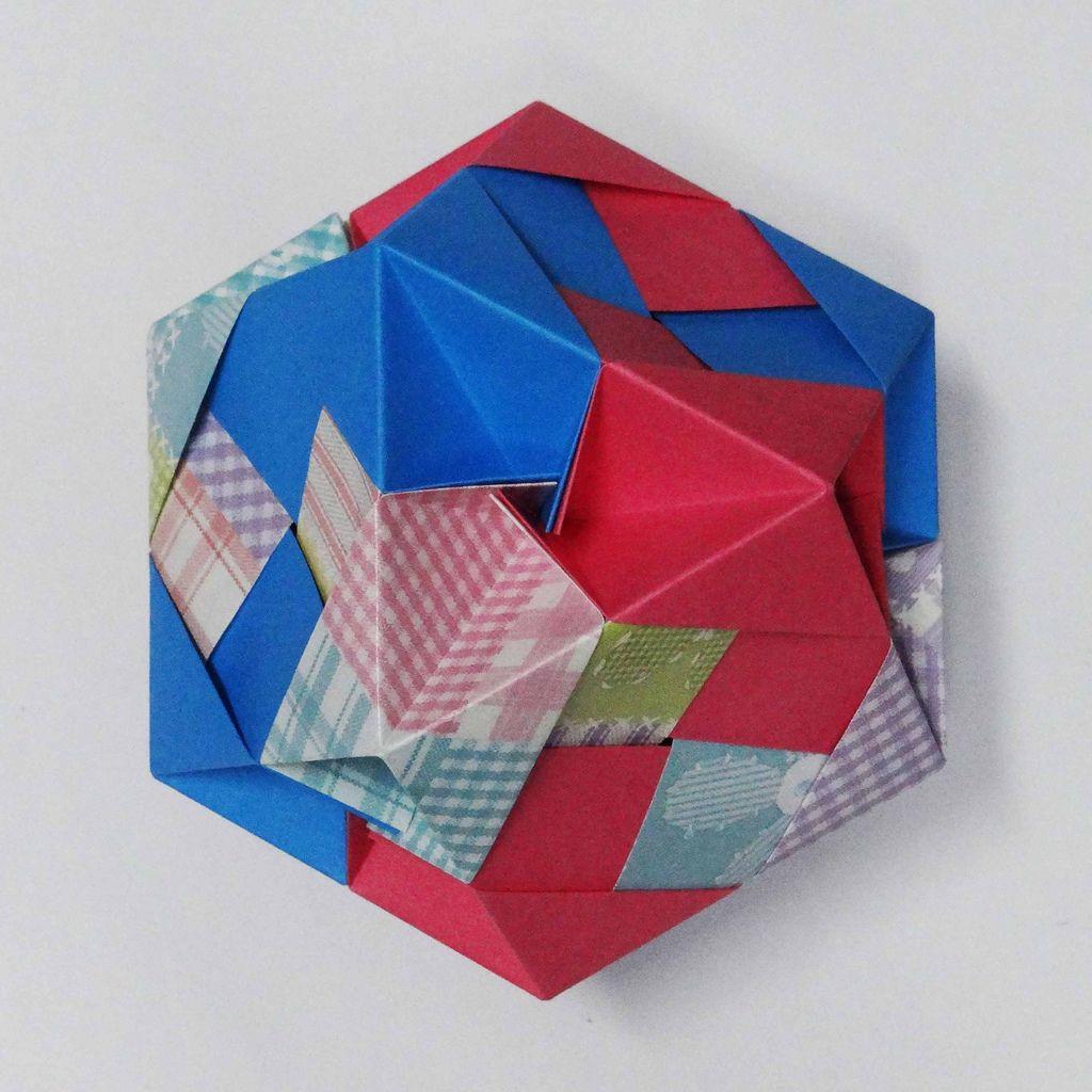 Mozaic With Facets Modular Origami Kirigami And Diagram Tomoko Fuse Diagrams By Samamalan Designer
