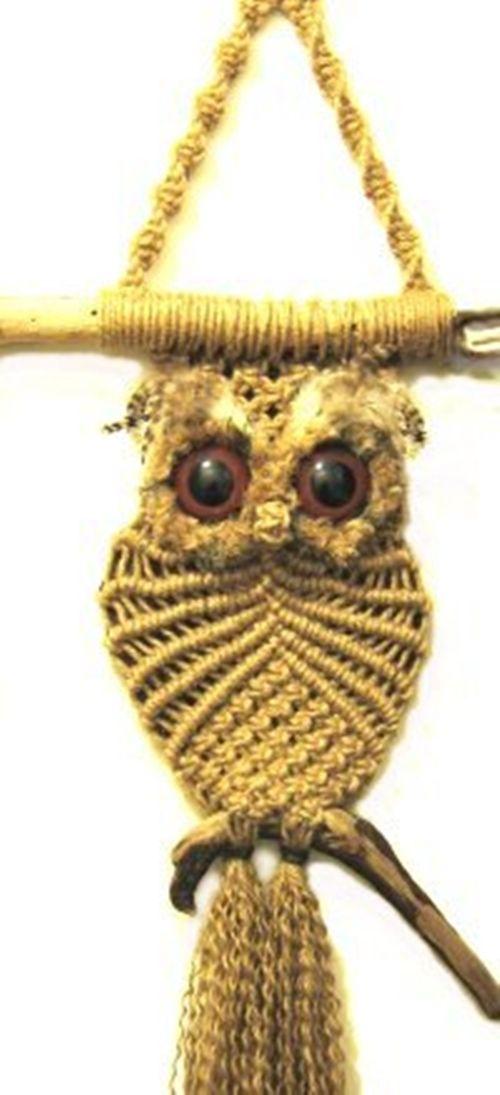 Wonderful DIY Cute Macrame Owls | ella | Pinterest | Persönliche ...