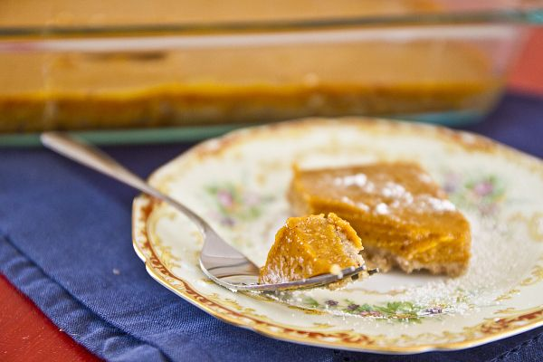 Butternut Squash Pie Bars