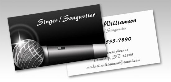 Microphone music business cards singer songwriter business microphone music business cards singer songwriter reheart Choice Image