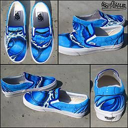 fd97f350fb9502 Hang Ten Vans Classic Slip Ons hand painted shoes big waves. Perfect beach    surf shoe for a vacation!
