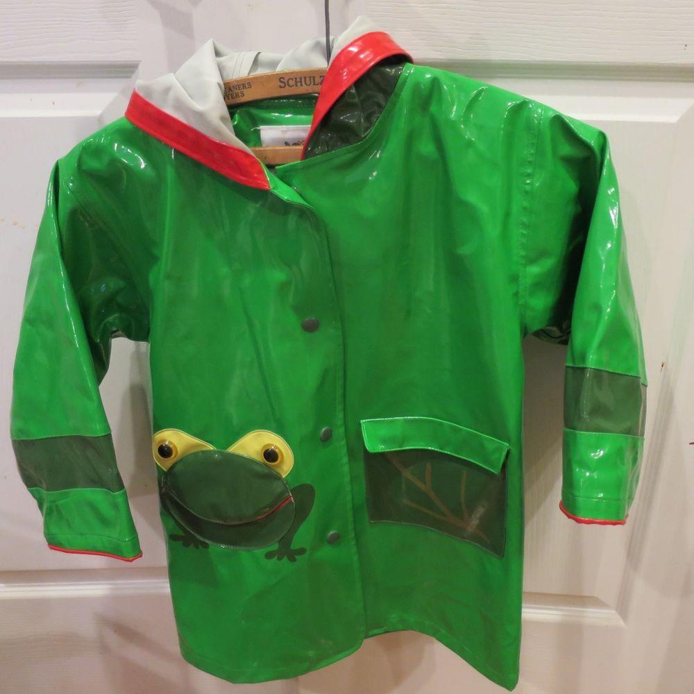 2c29f3680 Girls Boys Size 4-5 Kidorable Frog Raincoat Rain Coat Jacket Back To ...