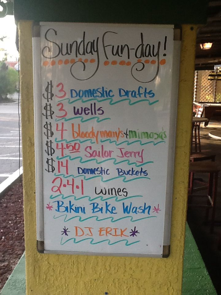 Sunday Funday Is Rolling Along Drink Specials All Day Nba And Fifa World Cup Action On The Tvs And Great Music Drink Specials Chalkboard Quote Art Special