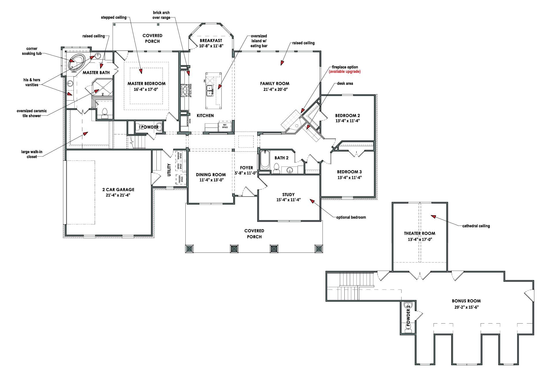 The Fredericksburg Custom Home Plan From Tilson Homes Custom Home Plans Custom Homes House Plans