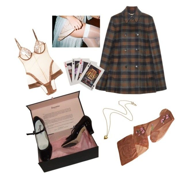 """""""Sandy"""" by methlick ❤ liked on Polyvore featuring Salvatore Ferragamo, Repetto, Kate Spade and La Perla"""