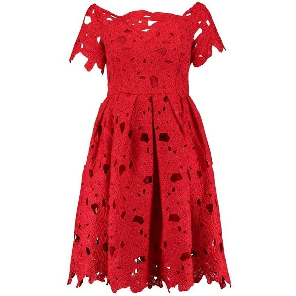 Boohoo Boutique Lisa Off Shoulder Lace Skater Dress  70cc14e60