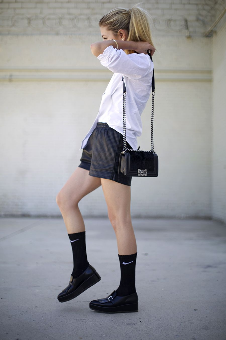 Asian ass attractive capris good mmm shorts sock white