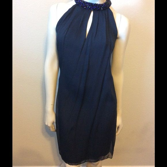 """DVF Diane Von Furstenberg Lainey Dress Diane Von Furstenberg Lainey Embellished Dress.  NWT- in perfect new condition.   *Halter *Beautiful neckline *Loose fit *Keyhole slit opening *MSRP $348 *Bust: 44"""", Waist: 44"""", Hip: 48"""", Length: 38"""" *Silk/Polyester/Spandex blend Diane von Furstenberg Dresses Midi"""