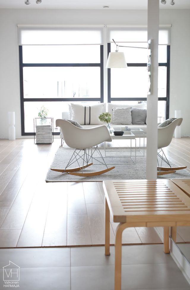 Eames Molded Rocking Chair | Interiors | Pinterest | Living rooms ...