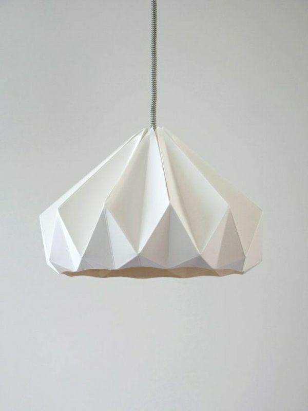 Favorit Origami Lampenschirm Anleitung und tolle Beispiele | Wand Dekor PZ01