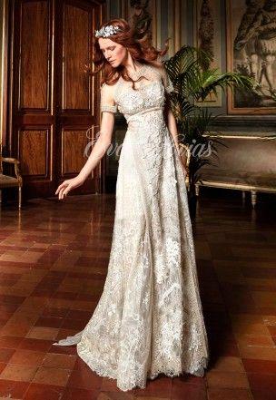 vestido de novia modelo canela. yolancris colección 2017 en eva