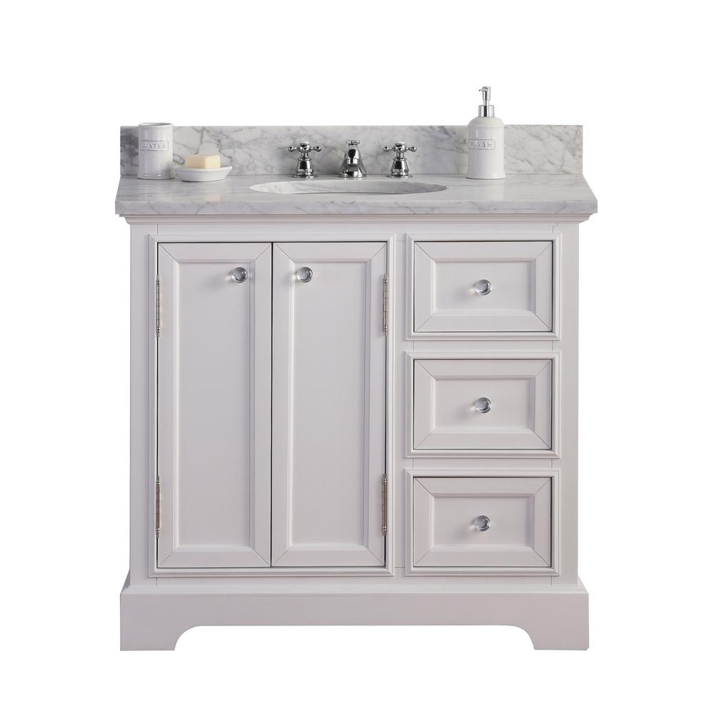 Water Creation Derby 36 In W X 34 In H Vanity In White With
