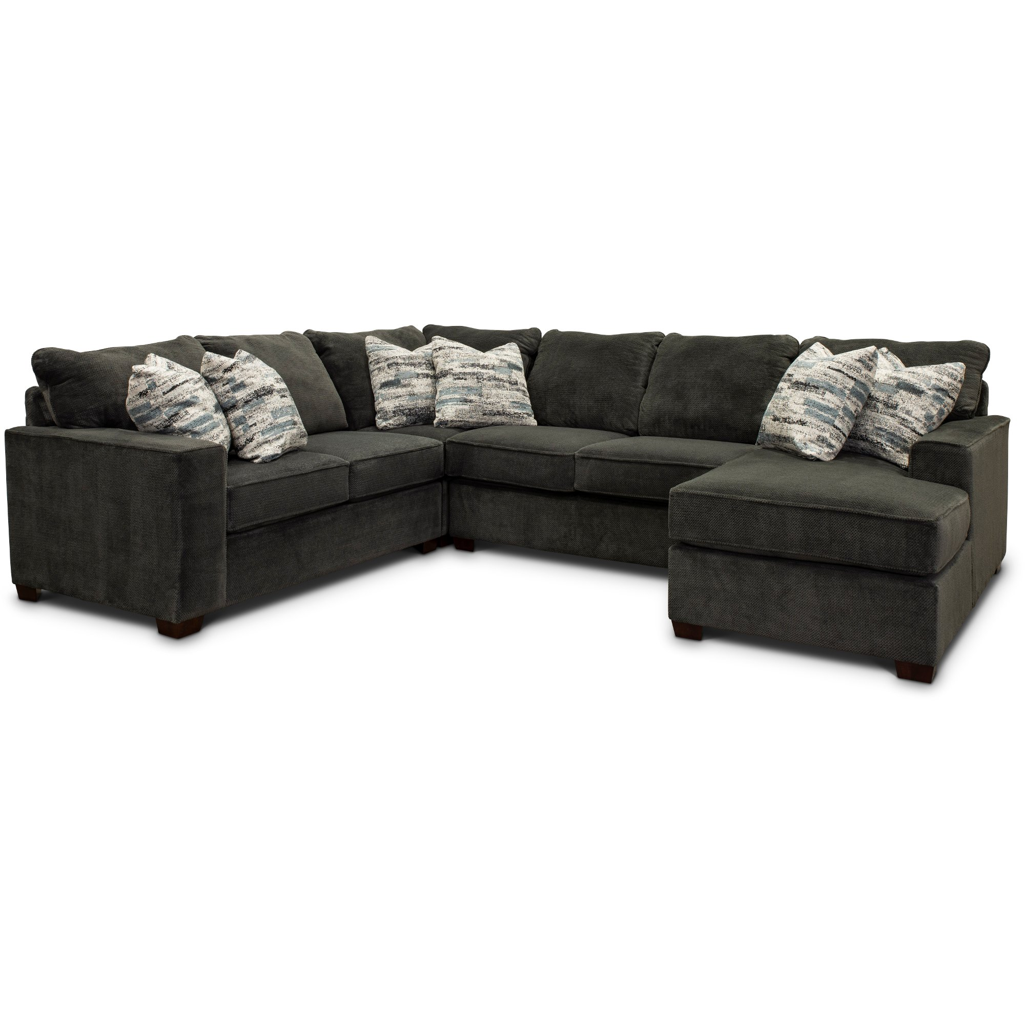 Dark Gray 4 Piece Sectional Sofa With Laf Loveseat Autumn In
