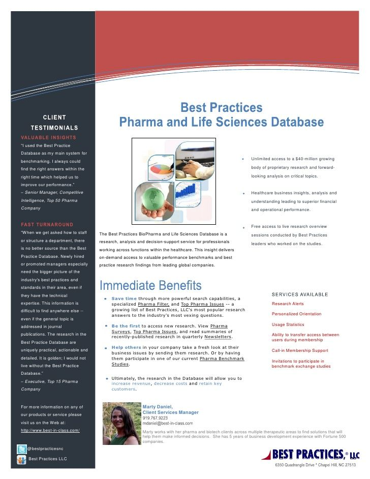 1-Pager: Best Practices Database via Slideshare