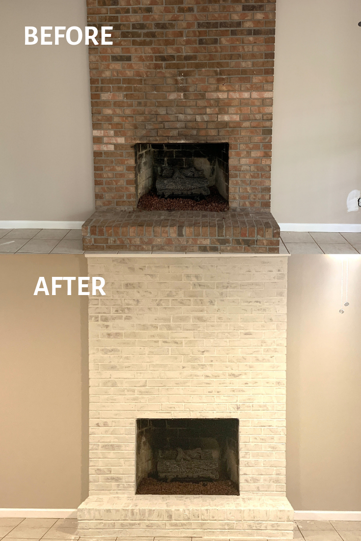 How To Mortar Wash German Schmear A Brick Fireplace Fireplace Mortar Update Brick Fireplace Brick Fireplace