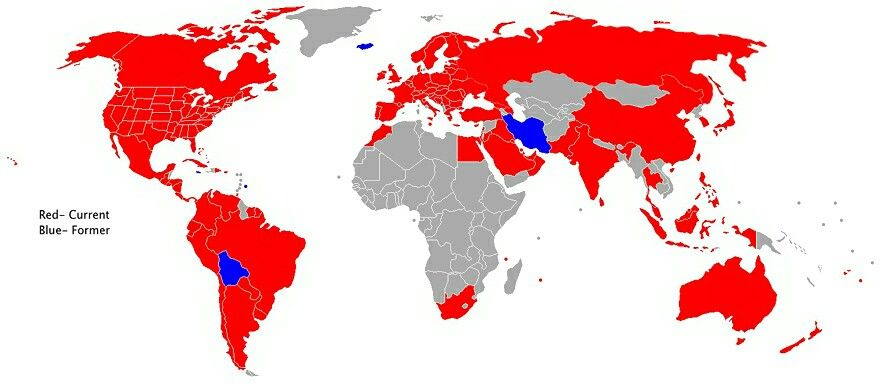 World map showing countries with McDonalds #maps #geography