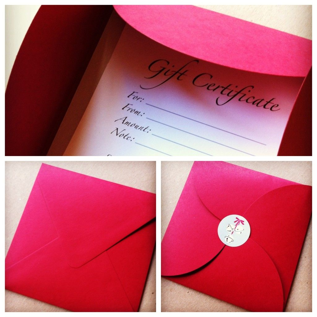 other views of the @BeautySmith gift certificate. Great idea to have handmade ones when you don't need a lot on hand.