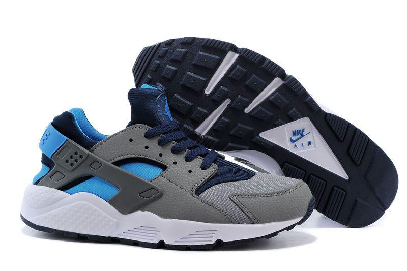 new styles d3a97 a963a Nike Air Huarache Dark Grey Hyper Blue Navy