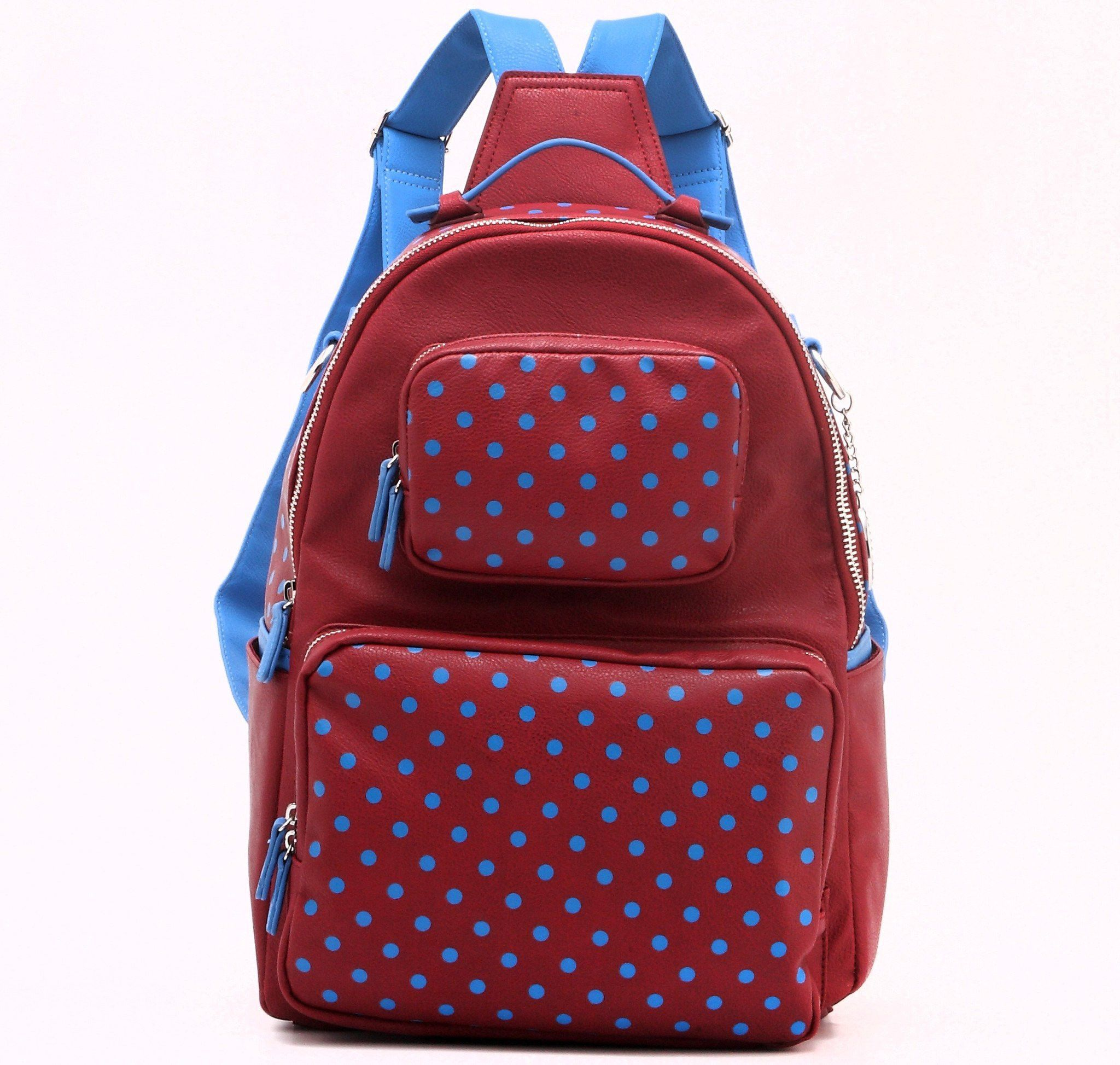 Backpack-Large-Maroon/French Blue-Natalie Michelle