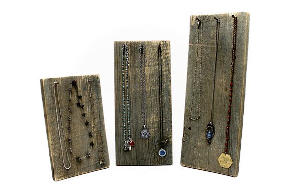 Necklace Display Stand Barn Wood Distressed Craft Show