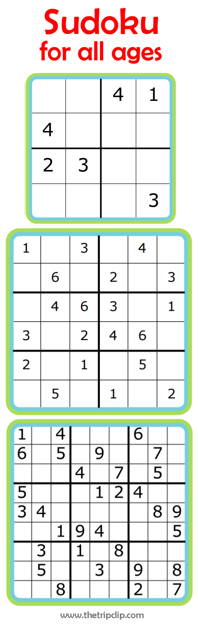 It is a photo of Gutsy Sudoku for Kids Printable